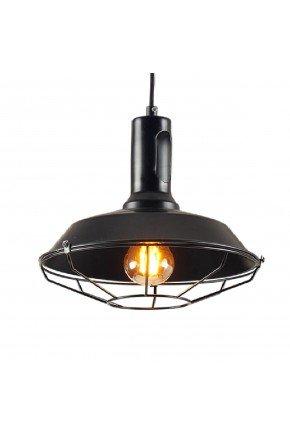 pendentes luminaria pendente industrial aramado aco moderno tennesse preto grande 46cm p 1595001309719