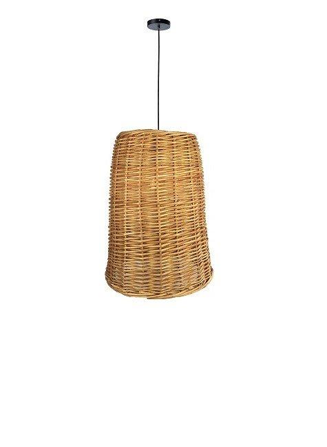 luminara pendente vime fibra natural produto lili casa e construcao