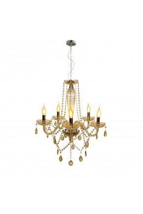 lustre cristal baronesa vidro 5xe14 champanhe lili casa e construcao prancheta 1