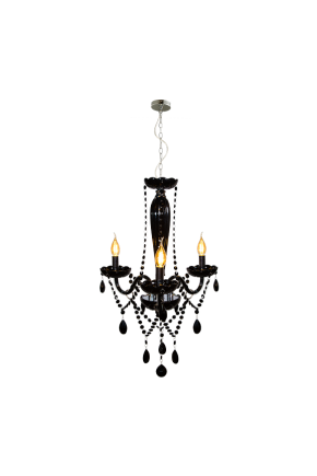 lustre baronesa vidro pb 3xe14 can cromo lili casa e construcao