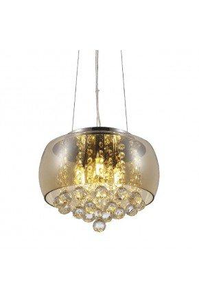 luminaria lustre cristal magnum 35cm ambar blumenau lili casa e construcao