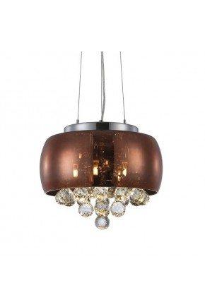 luminaria lustre cristal magnum 35cm ronze blumenau lili casa e construcao