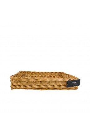bandeja fibra natural retangular pequena 35cm vime lili casa e construcao