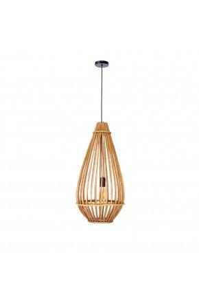 luminaria pendente gota fibra natural vime 50cm lili casa e construcao