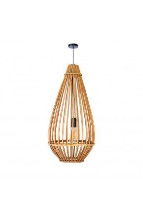 luminaria pendente gota fibra natural vime 70cm grande lili casa e construcao