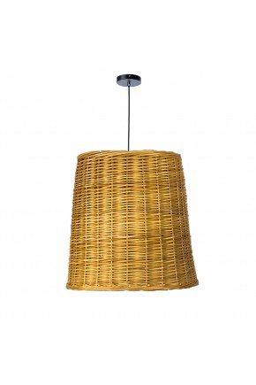 luminaria pendente oval 40 fibra natural vime lili casa e construcao